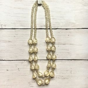 Chic 2 Strand Vintage Translucent Beaded Necklace